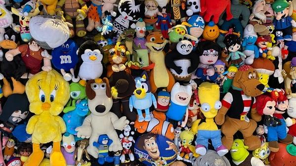 Different plush toys