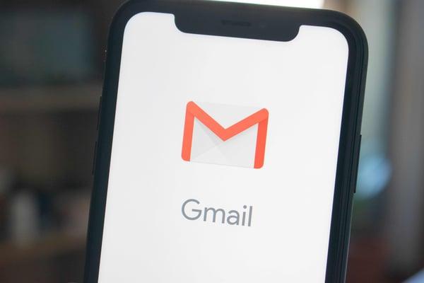 Gmail on smartphone
