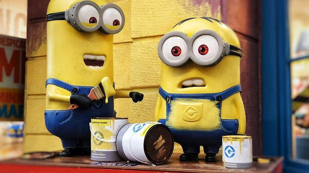 Minions with paint