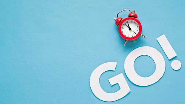 Red clock and go