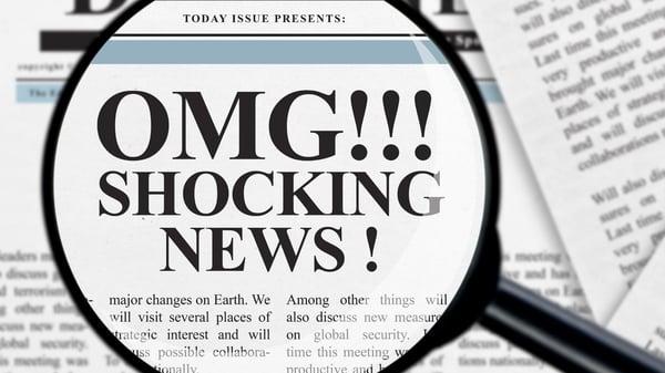 Shocking news on newspaper