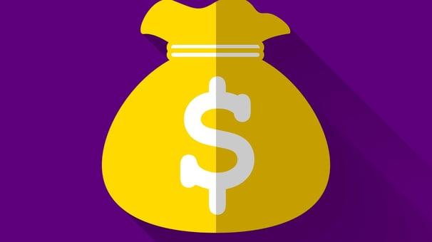 Yellow bag of money